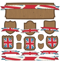 uk plaques and ribbons vector image