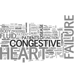 What is congestive heart failure text word cloud vector
