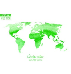 World watercolor map isolated on white background vector