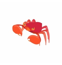 Sea crab icon cartoon style vector