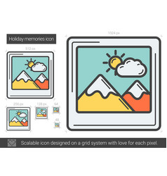 holiday memories line icon vector image