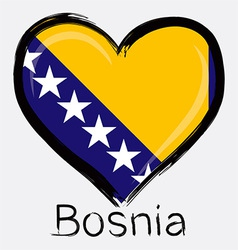 love Bosnia flag vector image