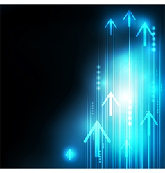 Abstract blue arrows technology communicate vector