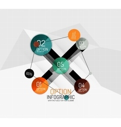 Modern abstract business geometric infographics vector
