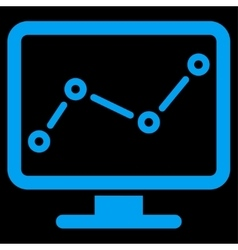 Monitoring icon from business bicolor set vector