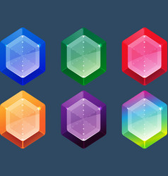 Gems and jewels icons set for game user interface vector