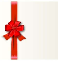 Red ribbon with satin bow isolated on white vector