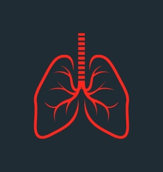 Symbolic human lungs silhouette - fluorography vector