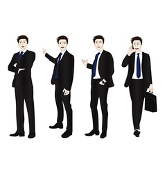 Business man full body color vector