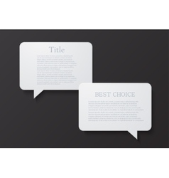 Modern bubble speech or chat vector