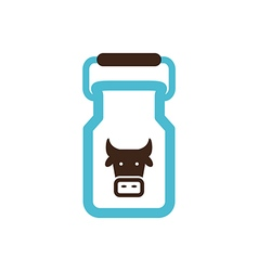 Can container for milk icon garden vector