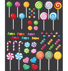sweets candy set vector image