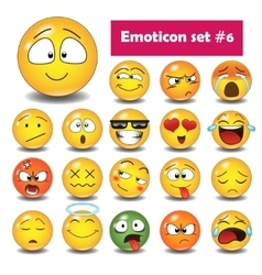 Set of emoticons N6 vector image