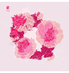 Beautiful pink rose vector