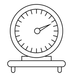 Mechanical scales icon outline style vector
