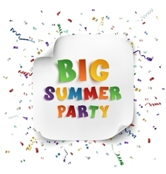 Big summer party poster vector