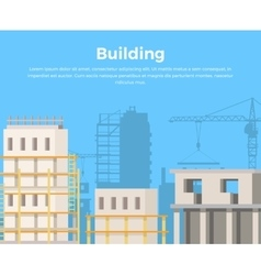 Building landscape city construction view vector