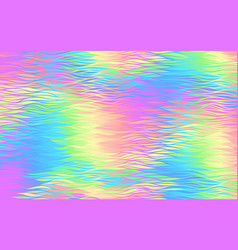 abstract holographic background with waves pattern vector image vector image