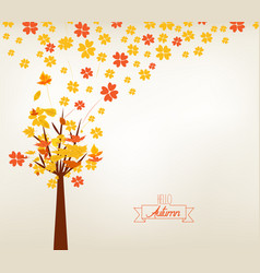 An autumn design autumn tree background vector