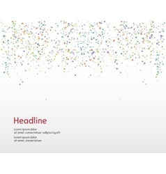 Background Serpentine and confetti vector image vector image