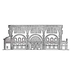 Basilica used to describe an ancient roman public vector