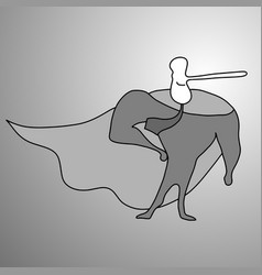 Businessman superhero with long nose vector