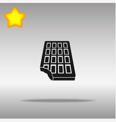 chocolate black icon button logo symbol vector image