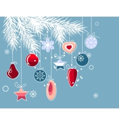 christmas background with stylized contour balls vector image vector image