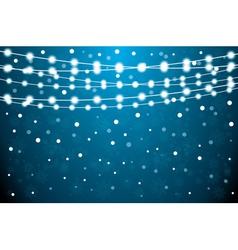 Christmas Card with Neon Light Bulbs vector image vector image
