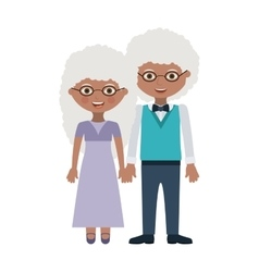 Couple of grandparents cartoon design vector