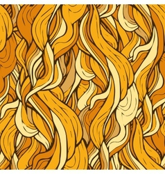 Decorative ornamental pattern with golden hair vector