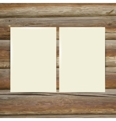 Design template white paper on the wooden table vector