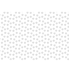 Favorite stars and hearts seamless background vector