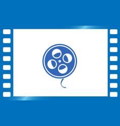 film reel icon vector image vector image
