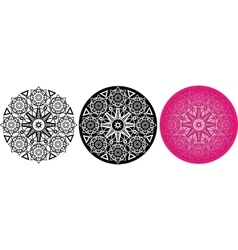 Flower mandala for coloring book round pattern vector