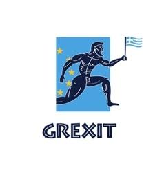Greece crisis greek runner with vector