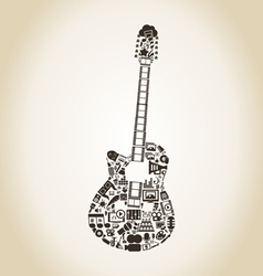 Guitar art vector image