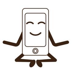 Kawaii smartphone device vector