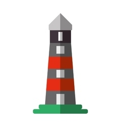 Lighthouse building shadow icon vector