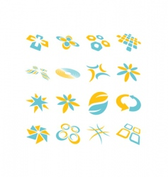 Logo background vector