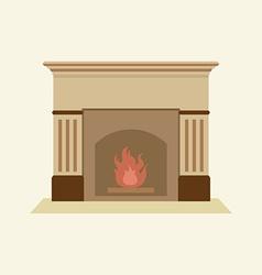 Modern flat design fireplace vector