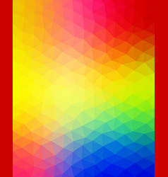 multicolored vibrant pattern triangular vector image vector image