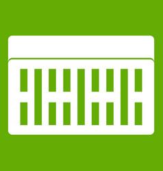 one building brick icon green vector image