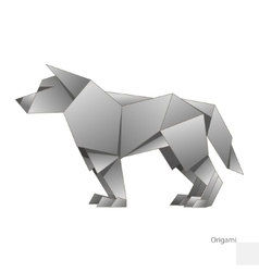 Origami paper wolf vector image