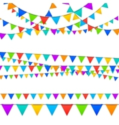 Paper Garland Decoration vector image vector image