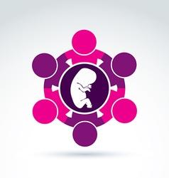 Pregnancy and abortion idea baby embryo symbol vector