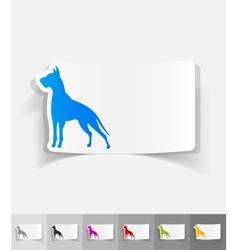 Realistic design element great dane vector