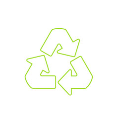 recycle symbol linear icon vector image vector image