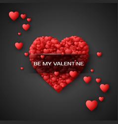 red heart - symbol of love hearts confetti saint vector image vector image