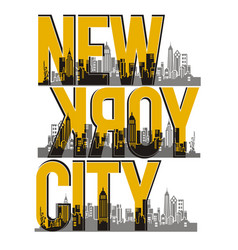 Retro new york city vector